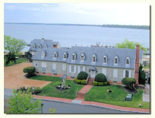 A view of the Watermens' Museum from the deck at the York River Inn